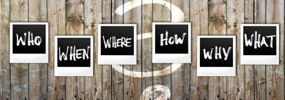 Ask yourself: why do you ask questions?